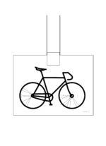 Cykel hängande