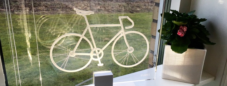 Cykel i fönster